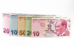 Cédulas da lira turca Imagem de Stock