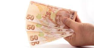 Cédulas da lira turca Fotografia de Stock