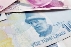 Cédulas da lira turca Fotos de Stock Royalty Free