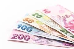 Cédulas da lira turca Imagens de Stock