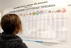 Cédulas das eleições de Italia Imagens de Stock