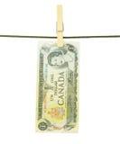 Cédulas de Dolar do canadense Imagem de Stock
