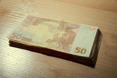 Cédulas de 50 euro Fotografia de Stock