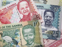 Dinheiro de Gambia Imagens de Stock Royalty Free