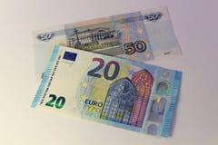Cédulas de países diferentes, denominação diferente Imagem de Stock Royalty Free