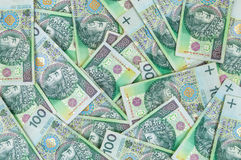 Cédulas de 100 PLN (zloty polonês) Fotografia de Stock Royalty Free
