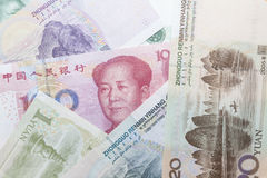 Cédulas de Renminbi do chinês Fotografia de Stock Royalty Free