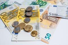 Cédulas diferentes do Euro de 5 ao Euro 500 Fotos de Stock