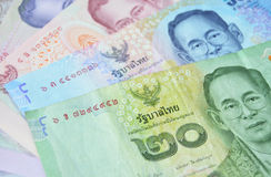 Cédulas do baht tailandês Imagem de Stock Royalty Free