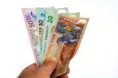 Cédulas do dólar de Nova Zelândia foto de stock