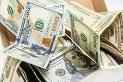 Cédulas do dólar para o fundo Fotos de Stock