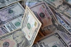 Cédulas do dinheiro do dólar Moeda americana Fundo do dinheiro Dólar de Estados Unidos Fotografia de Stock