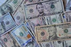 Cédulas do dinheiro do dólar Moeda americana Fundo do dinheiro Dólar de Estados Unidos Imagem de Stock Royalty Free