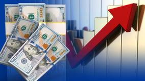 cédulas do dinheiro 3d Fotografia de Stock Royalty Free