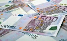 500 cédulas do dinheiro do Euro Fotografia de Stock