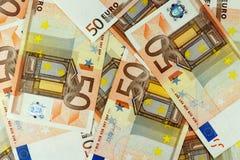 Cédulas do dinheiro do Euro - 50 Foto de Stock Royalty Free