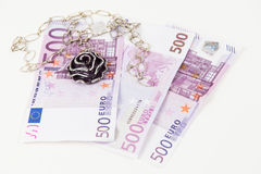 500 cédulas do Euro, joia Fotografia de Stock