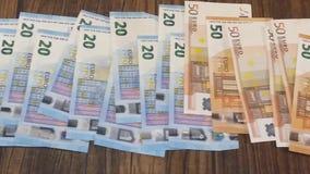 Cédulas do Euro no vídeo curto video estoque