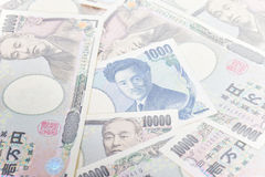 Cédulas do iene japonês 1.000 ienes, 10.000 ienes Imagens de Stock Royalty Free