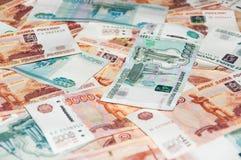 Cédulas do rublo Foto de Stock