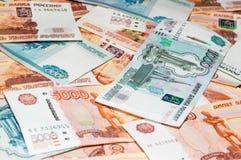 Cédulas do rublo Fotos de Stock Royalty Free
