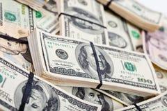 Cédulas dos dólares americanos Fotos de Stock