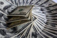 Cédulas dos dólares americanos Foto de Stock Royalty Free