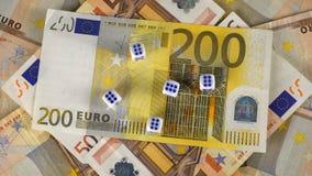 Cédulas e dados do Euro filme