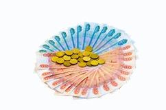 Cédulas e moedas fotos de stock royalty free
