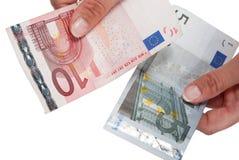Cédulas euro- Fotografia de Stock