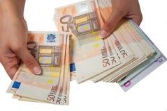 Cédulas euro- Fotos de Stock