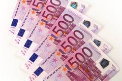 Cédulas europeias do euro 500 Fotografia de Stock Royalty Free