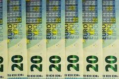 Cédulas europeias, moeda do Euro de Europa, Euros Imagens de Stock Royalty Free