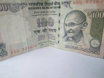 Cédulas indianas da moeda Imagem de Stock