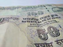 Cédulas indianas da moeda Foto de Stock Royalty Free