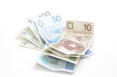 Cédulas polonesas da moeda Fotografia de Stock Royalty Free