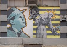 ` Célèbre de contreseings de ` par David McShane, sur l'extérieur des contreseings sales, Philadelphie Photographie stock