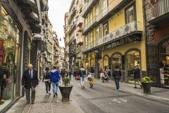 Célèbre par l'intermédiaire de Chiaia à Naples, Italie Photographie stock