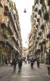 Célèbre par l'intermédiaire de Chiaia à Naples, Italie Photo libre de droits