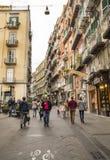 Célèbre par l'intermédiaire de Chiaia à Naples, Italie Photographie stock libre de droits