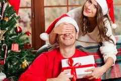 Célébrant Noël ensemble Photo libre de droits