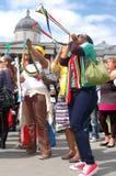 Célébration 2010, grand dos de la FIFA de Trafalgar Photo libre de droits