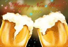 Célébration 2013 de bière de bonne année Image stock