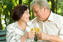 Célébration aînée de couples photo libre de droits