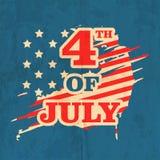 Célébration américaine de Jour de la Déclaration d'Indépendance Photos stock