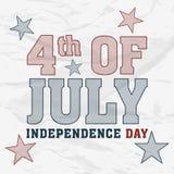 Célébration américaine de Jour de la Déclaration d'Indépendance Photographie stock