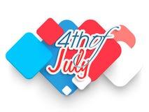 Célébration américaine de Jour de la Déclaration d'Indépendance avec l'illustration créative Images stock