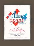 Célébration américaine de Jour de la Déclaration d'Indépendance avec le texte élégant Images stock