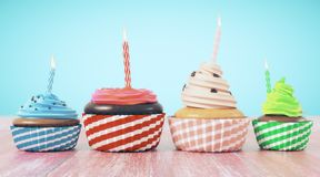 Célébration, anniversaire, concept de nourriture Photographie stock
