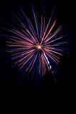 Célébration avec des feux d'artifice Photographie stock libre de droits